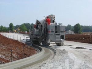 Curb Construction Machine