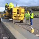 Yellow Power Curber Machine
