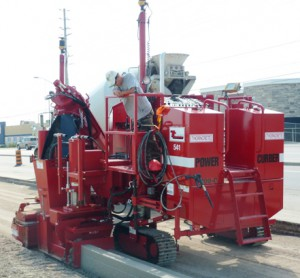 Red Power Curber Machine