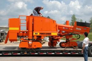 Orange Power Curber Machine