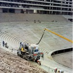 Stadium Risers Being Constructed