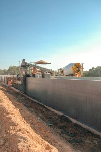Pouring Canal Wall