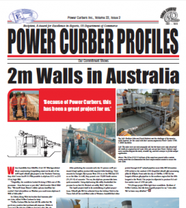 Profiles Newsletter by Power Curbers Volume 22 Issue 2