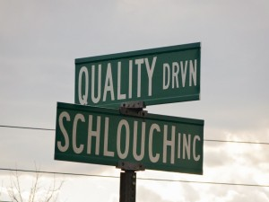 Schlouch Inc. Sign